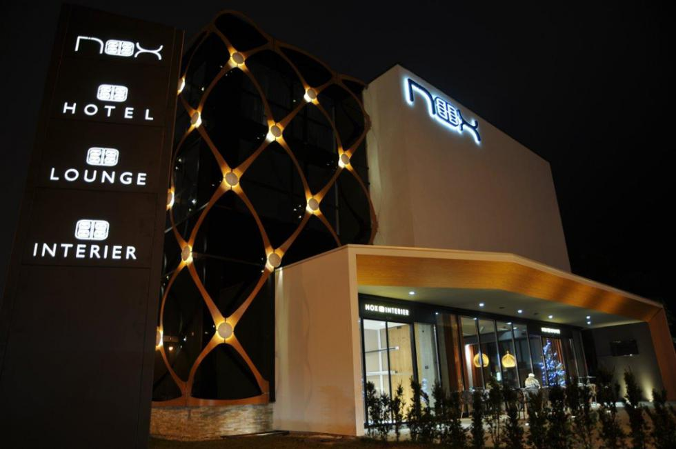 Doors to furniture store nox interier have opened hotel for Design hotel nox